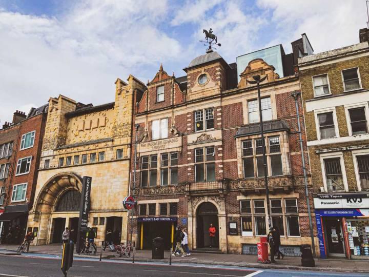 exterior of Whitechapel Gallery