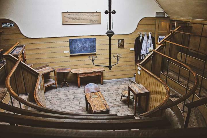 Interior shot of the Old Operating Theatre at London Bridge, London