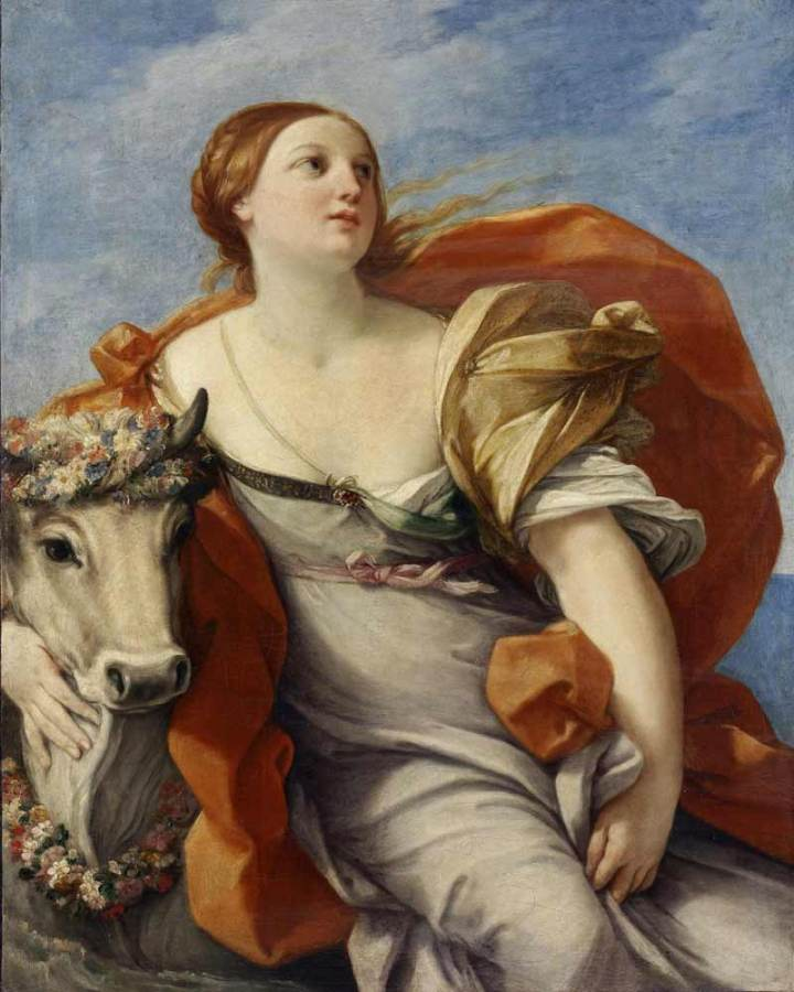 Painting 'Europa and the Bull' by Guido Reni
