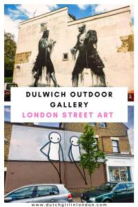 Pinterest image to pin this article about the Dulwich Outdoor Gallery