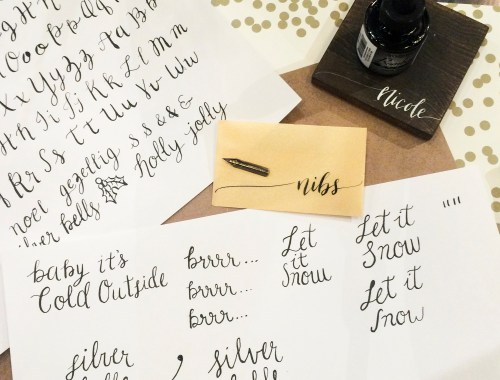 Edmonton Calligraphy Workshop with Justine Ma | Dutchie Love