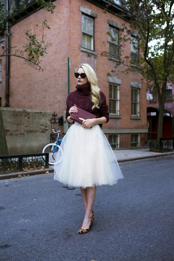 Tulle Midi Skirt with Knit Inspiration | Dutchie Love