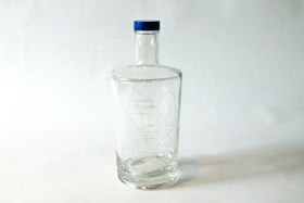 Glass water bottle 0,33l