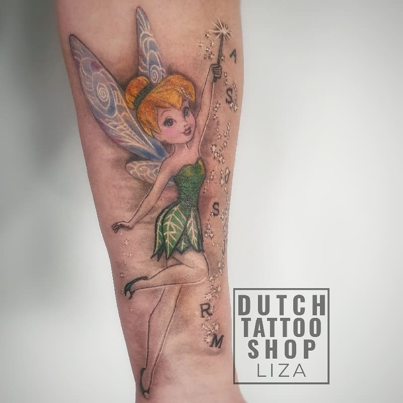 tinkerbel-disney-tattoo-peter-pan-sprookje-kleur-elfje