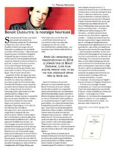 Benoît Duteurtre, Livre pour adultes, Éléments, Novembre décembre 2016