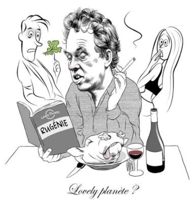 Benoît Duteurtre, En marche, Illustration DUSAULT, Le Point 2405, 4 octobre 2018