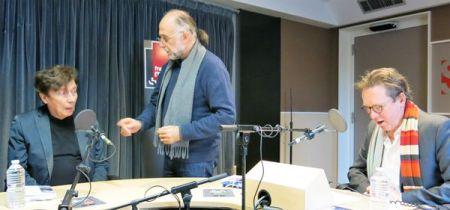 Gabriel Fumet , Bernard Laniel en charge de la prise de son & Benoît Duteurtre , studio 131, 25 mars 2017