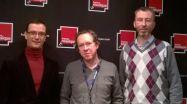 Marc-Antoine Pingeon, Benoît Duteurtre et Cédric Kleinklaus, 21 février 2015