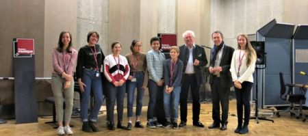 Benoît Duteurtre, Étonnez-moi Benoît, France Musique, studio 107, Alain Duault, Benoît Duteurtre avec les jeunes stagiaires de 3ème, 23 décembre 2017