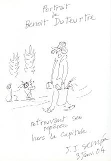 Portrait de Benoît Duteurtre par JJ Sempé, 03 janvier 2004