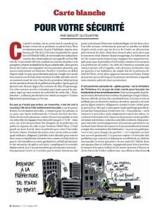 Pour votre sécurité - CARTE BLANCHE à Benoît Duteurtre - Marianne n°1178 du 11 au 17 octobre 2019