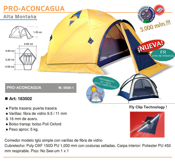Carpa Aconcagua Doite