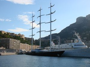 The Maltese Falcon moored in Monte-Carlo