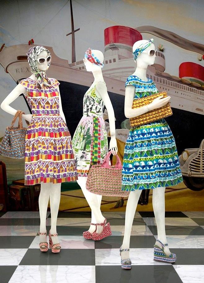 Coleccion 2012 Le Voyageur de vestidos, alta costura en Prada