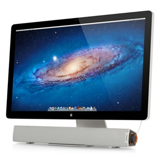 Cabe discretamente debajo de tu iMac o Cinema Display y produce un audio avanzado de primera calidad.