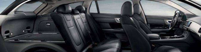 El lujoso habitáculo del XF Sportbrake cobra vida con características inteligentes y refinadas, diseñadas para un mayor confort y para aumentar el placer de conducción.