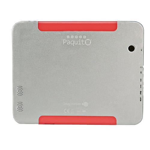Parte trasera, ahora Super Paquito incluye 2 camaras, Tablet infantil Super Paquito