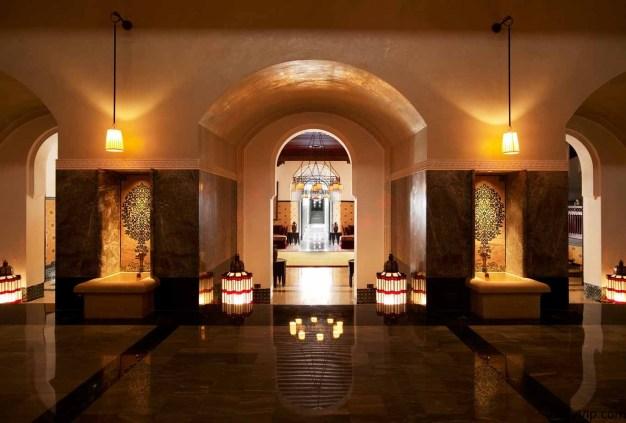 Parte del lobby del Hotel en Marruecos