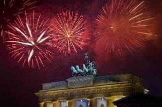 La Puerta de Brandemburgo en la festividad