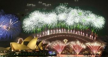 La llegada del nuevo año en Sídney