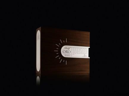 Hermosa caja de lujo individual de Davidoff Oro Blanco