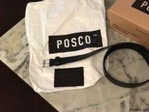 Muy útil el tarjetero que lo utilizo como billetera por su amplio espacio interior, 100% cuero, pero super finita made in Posco y un cinturón negro clásico realmente hermoso