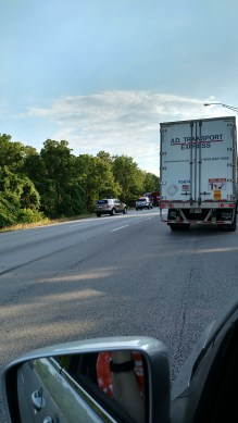 A tragic accident held up traffic for more than an hour