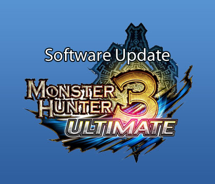 Monster Hunter 3 Ultimate Software Update