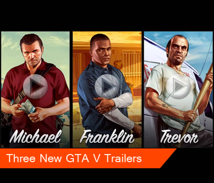New GTA V trailer – Michael, Franklin, Trevor