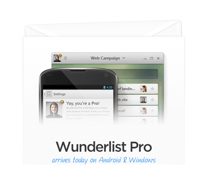 Wunderlist Pro Arrives Today On Android & Windows