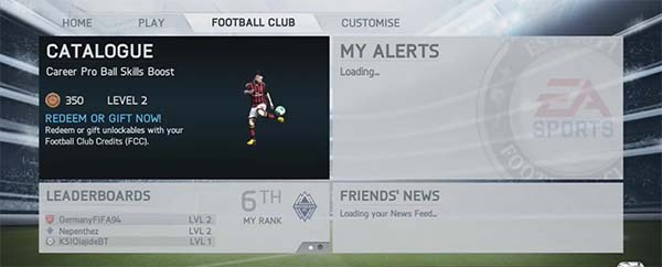 EAS FC Catalogue in FIFA 14