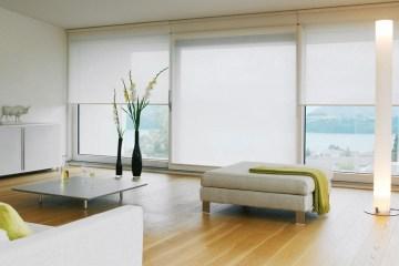 woonkamer met duurzame zonwering