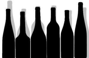 flessen silhouet