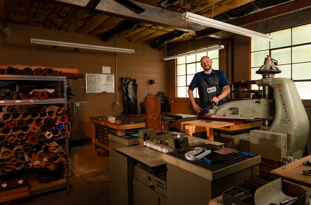 Nick Duvall in his workshop
