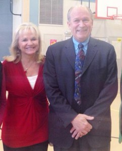 Alaskan First Lady Donna Walker and Governor Bill Walker appeared at Machetanz Elementary School in Palmer