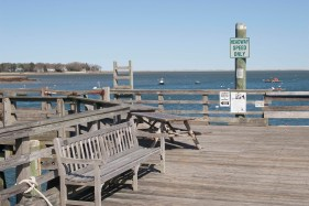 The pier at Snug Harbor in Duxbury, home of Duxbury Bookkeeping.