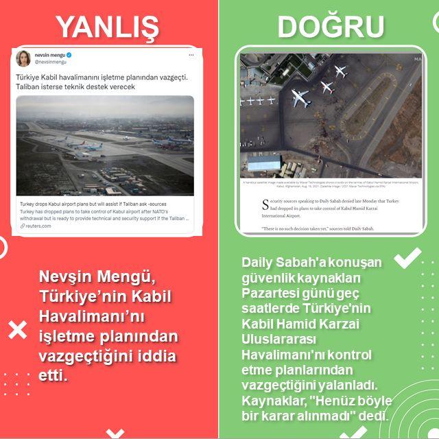 Nevşin Mengü, Türkiye'nin Kabil Havalimanı'nı işletme planından vazgeçtiğini iddia etti