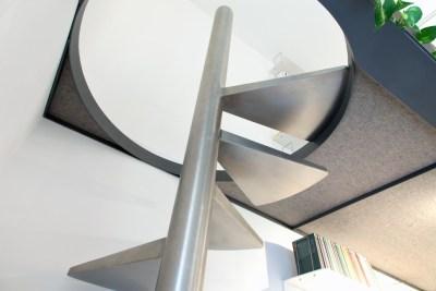 TomoArchitects soppalco e scala Ufficio Bonadeo