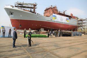 Первый средний разведывательный корабль для ВМС Украины спущен на воду