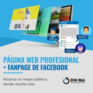 Página web + facebook