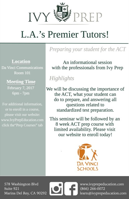 ACT Prep Family Meeting