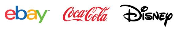 wordmark logos: ebay