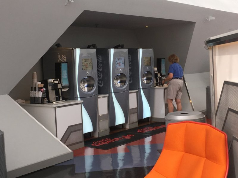 Freestyle Coke Machines in Epcot Member Lounge
