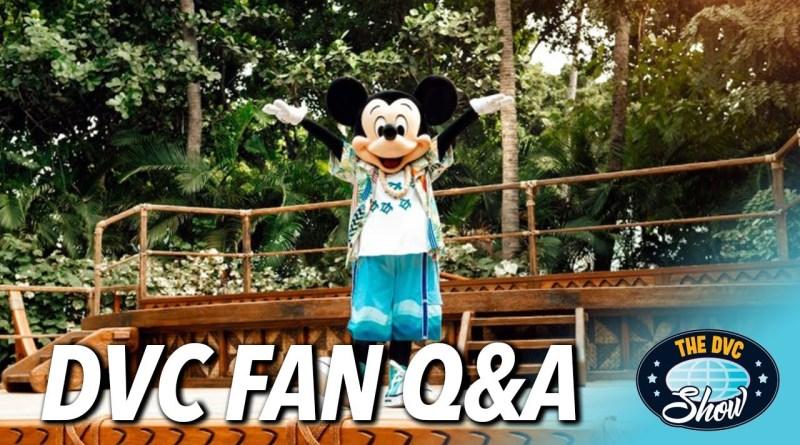 Disney Vacation Club Questions