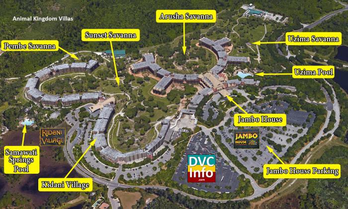 Disney's Animal Kingdom Villas Satellite View