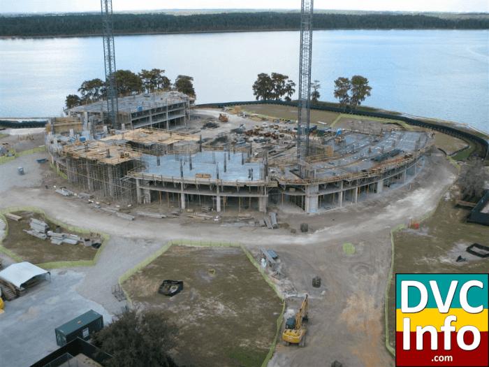 Bay Lake Tower construction