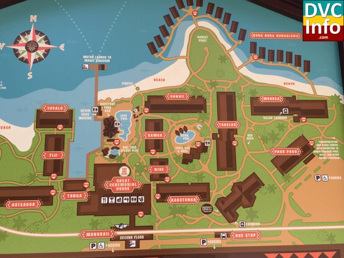 Disney's Polynesian Villas & Bungalows Resort Map