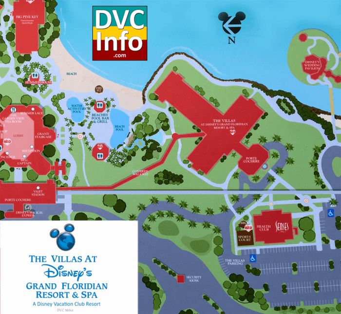 The Villas at Disney's Grand Floridian Resort & Spa Resort Map