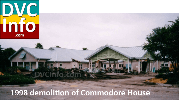 1998 demolition of Commodore House