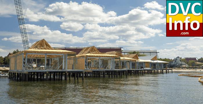 Polynesian bungalows under construction
